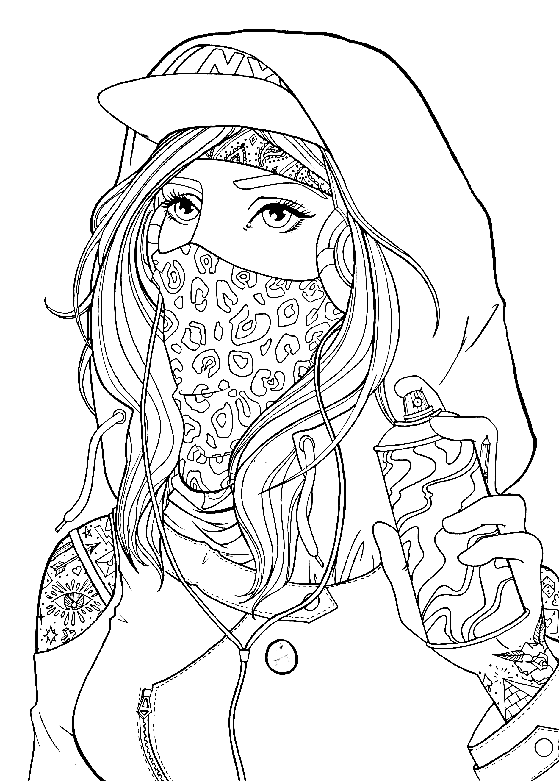 coloring pages of a girl graffiti girl drawing lineart coloring pages for a pages coloring girl of