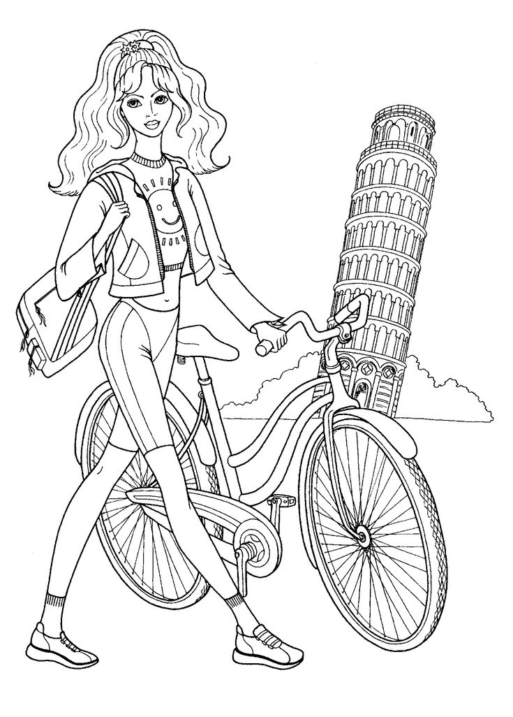 coloring pages of a girl portfolio andreymakurin stock photos illustrations a girl pages of coloring