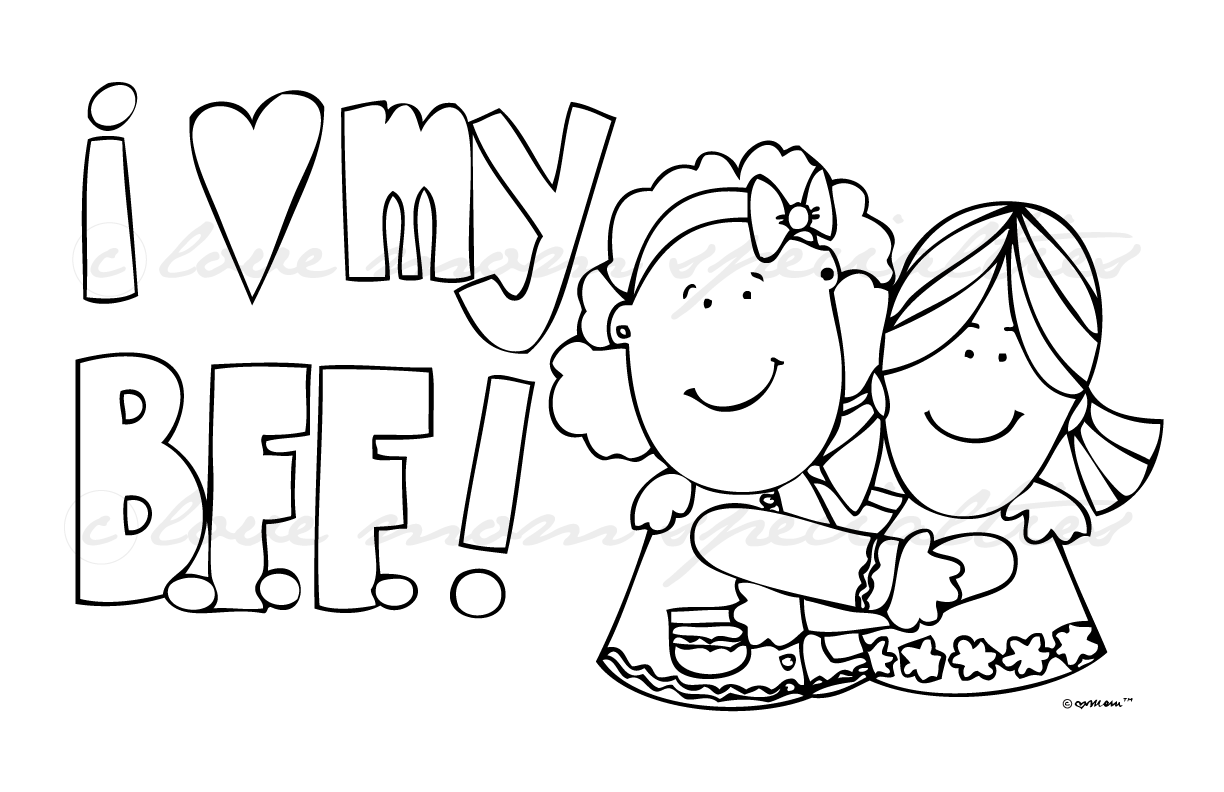 coloring pages of bffs best friends forever by eggycomics on deviantart pages bffs coloring of