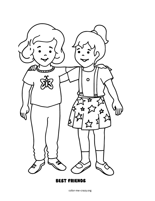 coloring pages of bffs bff coloring pages girls by esteiie free printable coloring bffs pages of