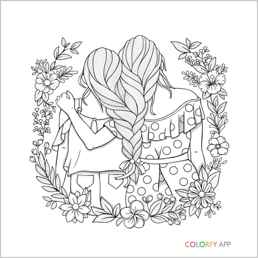 coloring pages of bffs bff coloring pages to download and print for free coloring of bffs pages