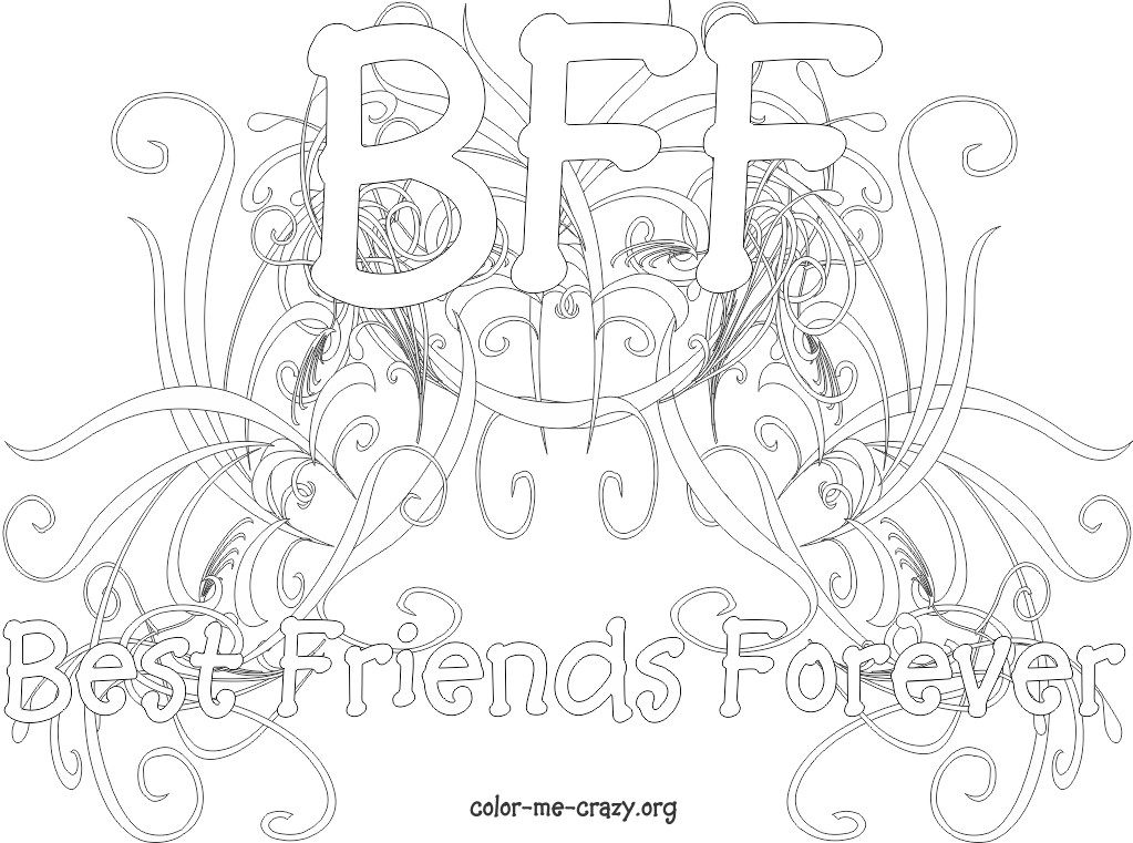 coloring pages of bffs bff coloring pages to download and print for free of pages coloring bffs