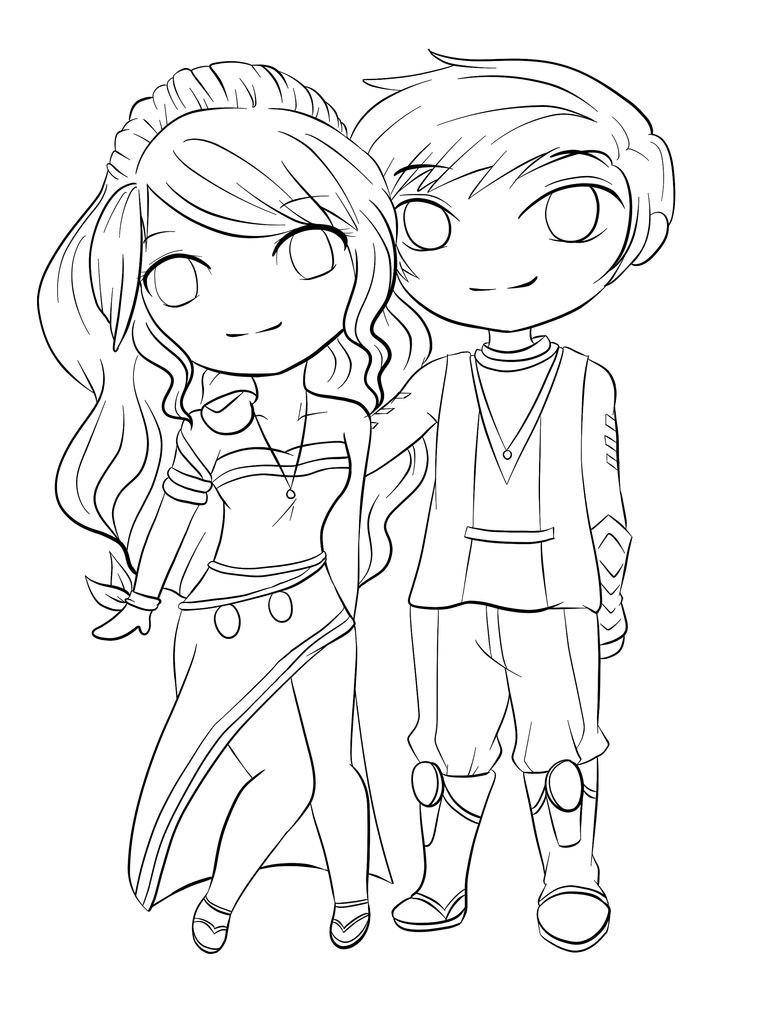 coloring pages of couples lineart chibi couple by rueyumi on deviantart of coloring pages couples