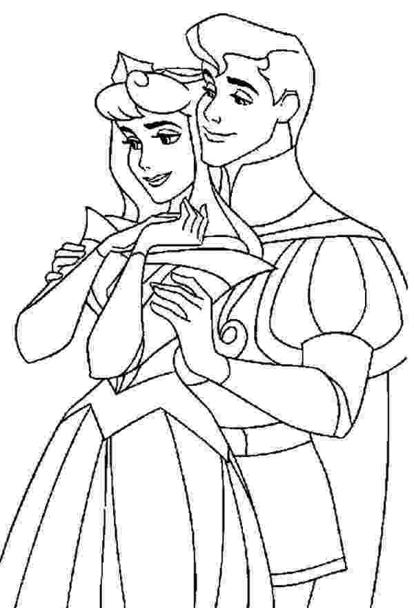 coloring pages of couples perfect couple in sleeping beauty movie coloring page coloring couples of pages