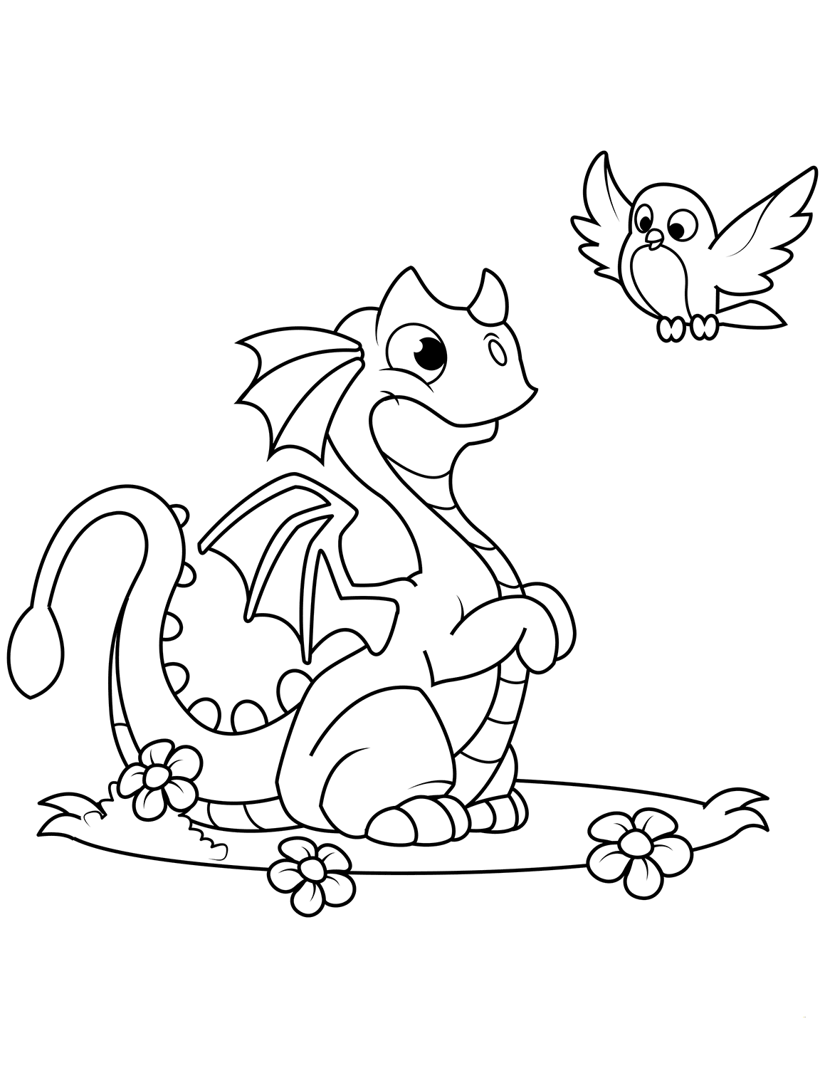 coloring pages of dragons cute dragon and chick coloring page free printable dragons pages coloring of