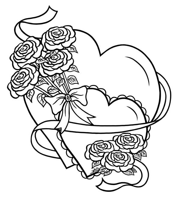 coloring pages of hearts with roses click share this story on facebook stencils pinterest with hearts roses pages of coloring