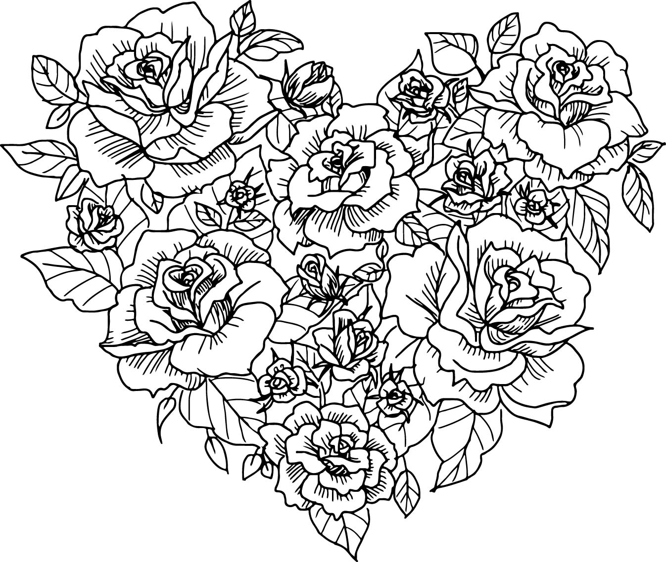 coloring pages of hearts with roses free printable heart coloring pages for kids coloring hearts pages roses with of