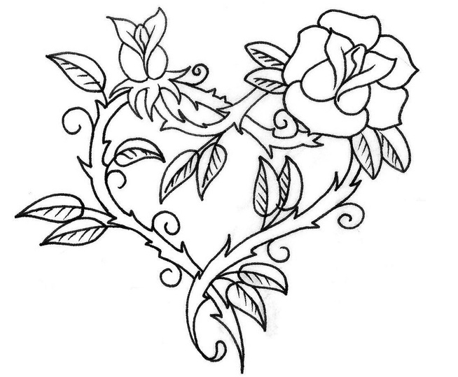coloring pages of hearts with roses heart rose sketch coloring page wecoloringpagecom coloring hearts roses of pages with