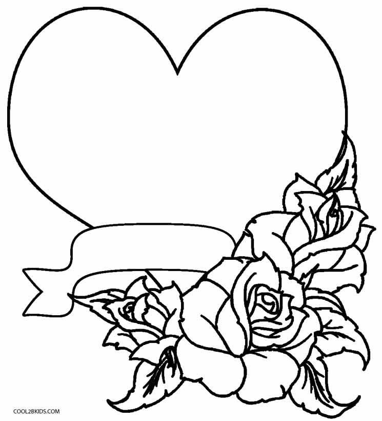 coloring pages of hearts with roses hearts and roses coloring pages getcoloringpagescom coloring of hearts with pages roses