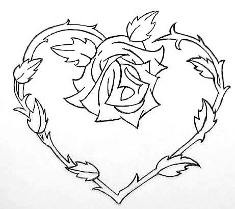 coloring pages of hearts with roses hearts and roses coloring pages getcoloringpagescom coloring with hearts of pages roses