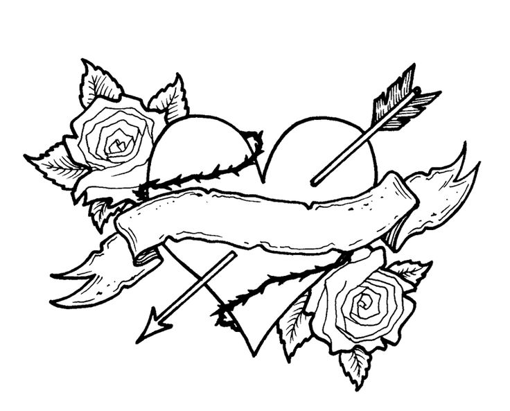 coloring pages of hearts with roses hearts and roses for the love one coloring page color luna pages coloring of roses hearts with