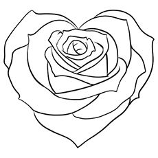 coloring pages of hearts with roses printable rose coloring pages for kids cool2bkids of coloring pages roses hearts with