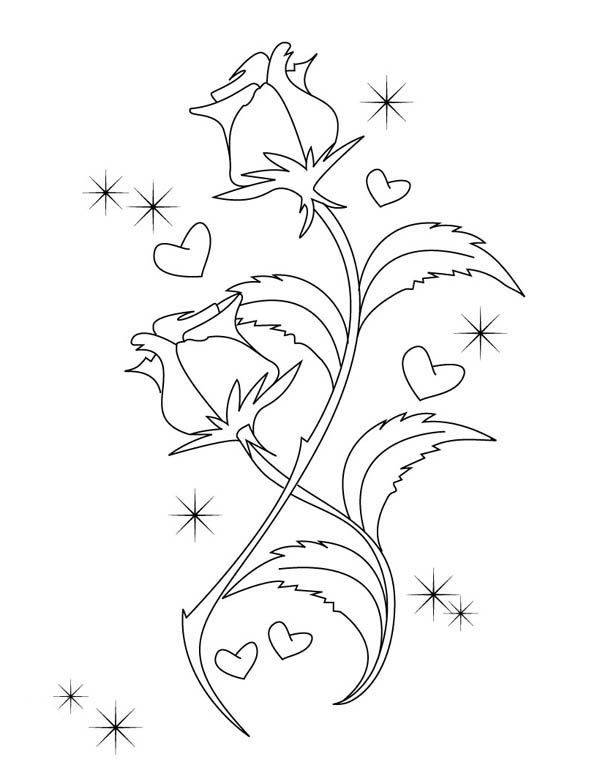 coloring pages of hearts with roses roses heart shape coloring pages hellokidscom with of roses hearts pages coloring