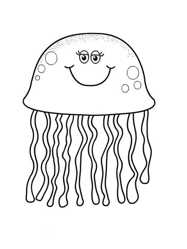 coloring pages of jellyfish cartoon jellyfish coloring page free printable coloring coloring of pages jellyfish