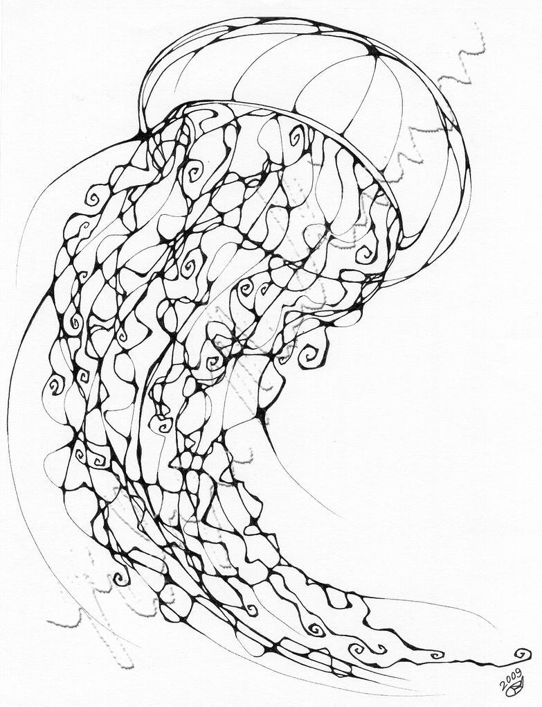 coloring pages of jellyfish inkblot jellyfish by chimeradreams on deviantart pages coloring of jellyfish