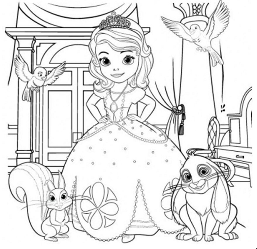 coloring pages of princess sofia disney fan club pages coloring princess of sofia