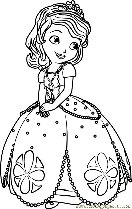 coloring pages of princess sofia princess sofia coloring page free sofia the first of pages princess sofia coloring
