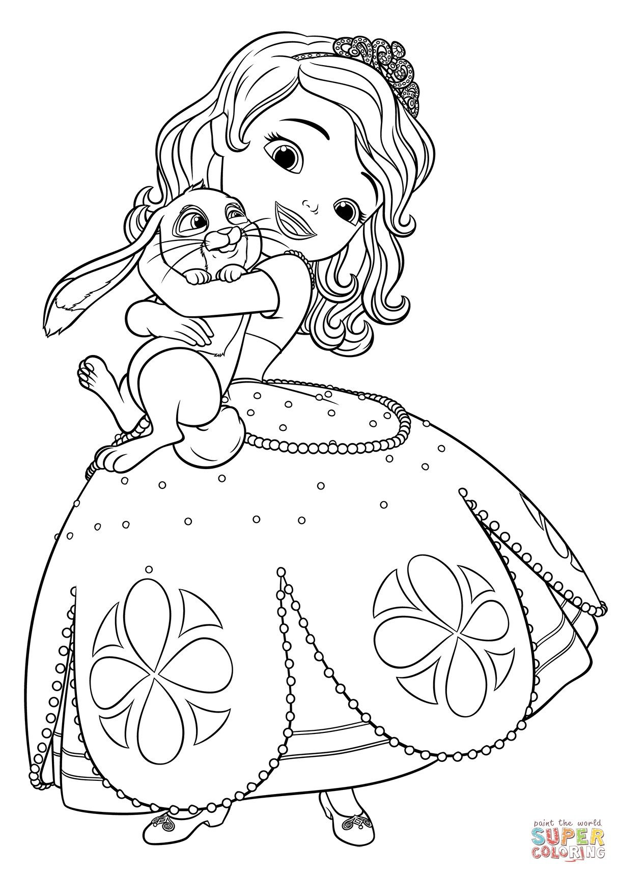 coloring pages of princess sofia princess sofia the first going to dance coloring page netart of sofia pages princess coloring