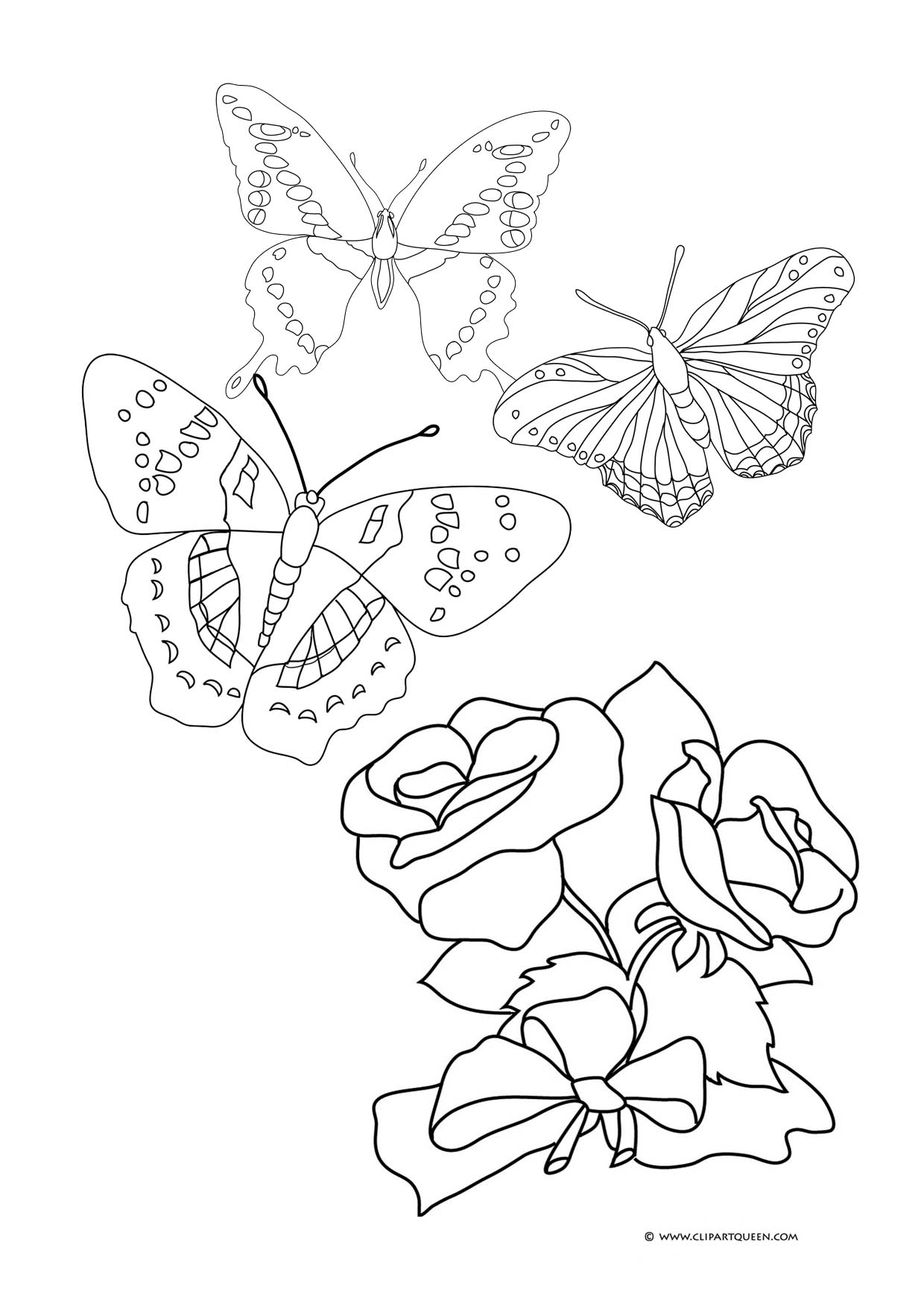 coloring pages of roses and butterflies butterfly coloring pages and of pages coloring butterflies roses