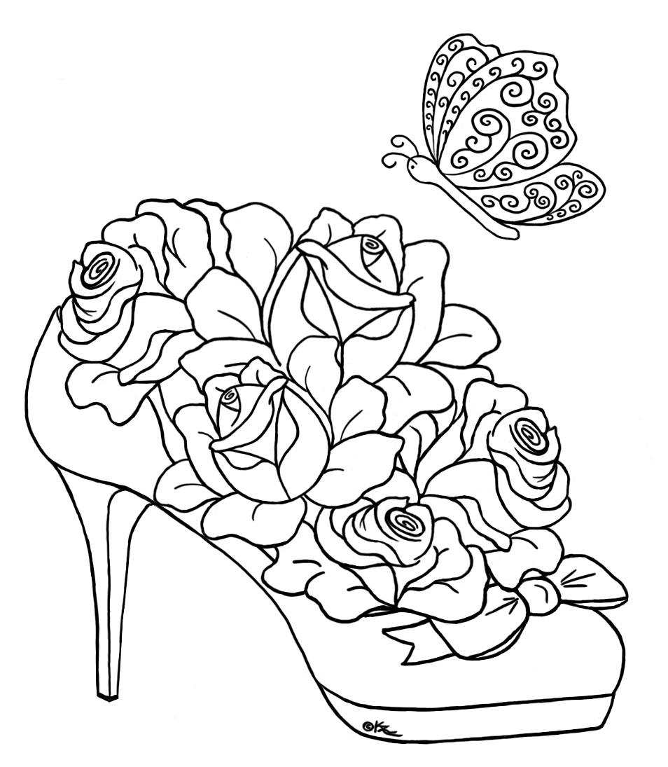 coloring pages of roses and butterflies butterfly on rose drawing at getdrawingscom free for of butterflies coloring and roses pages
