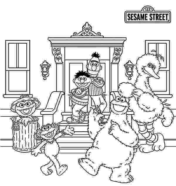 coloring pages of sesame street characters sesame street characters coloring pages at getdrawingscom pages of coloring characters sesame street