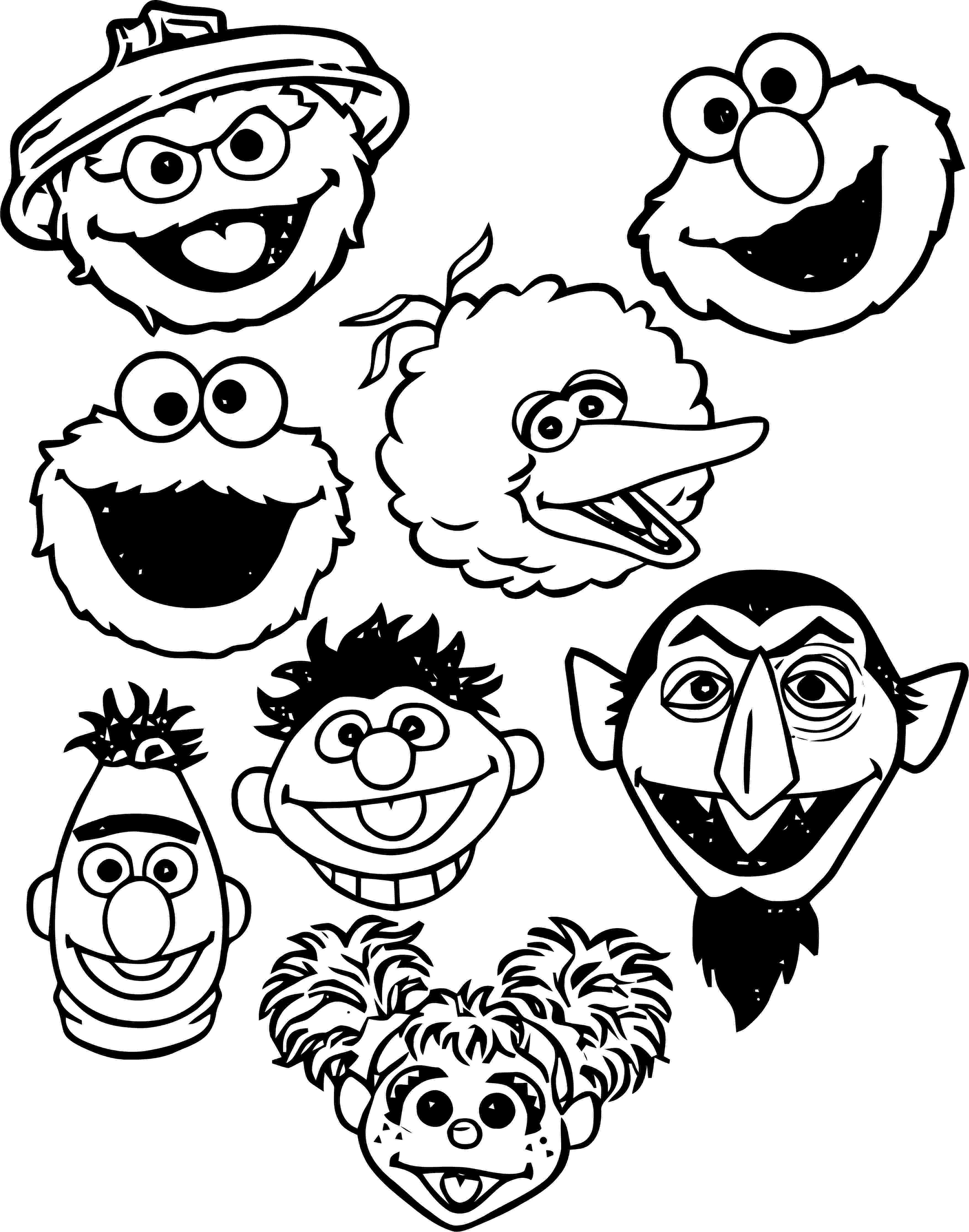 coloring pages of sesame street characters sesame street coloring pages getcoloringpagescom pages of characters coloring sesame street