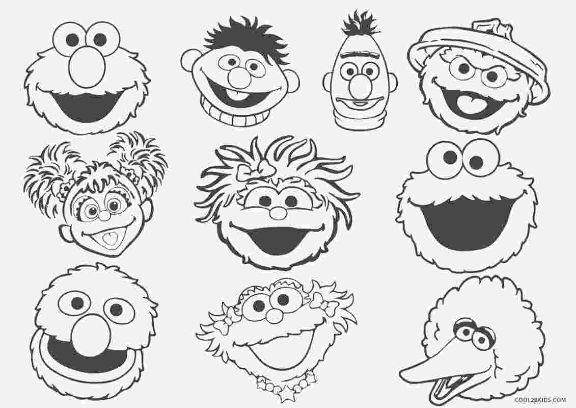 coloring pages of sesame street characters sesame street coloring pages getcoloringpagescom sesame pages characters street of coloring