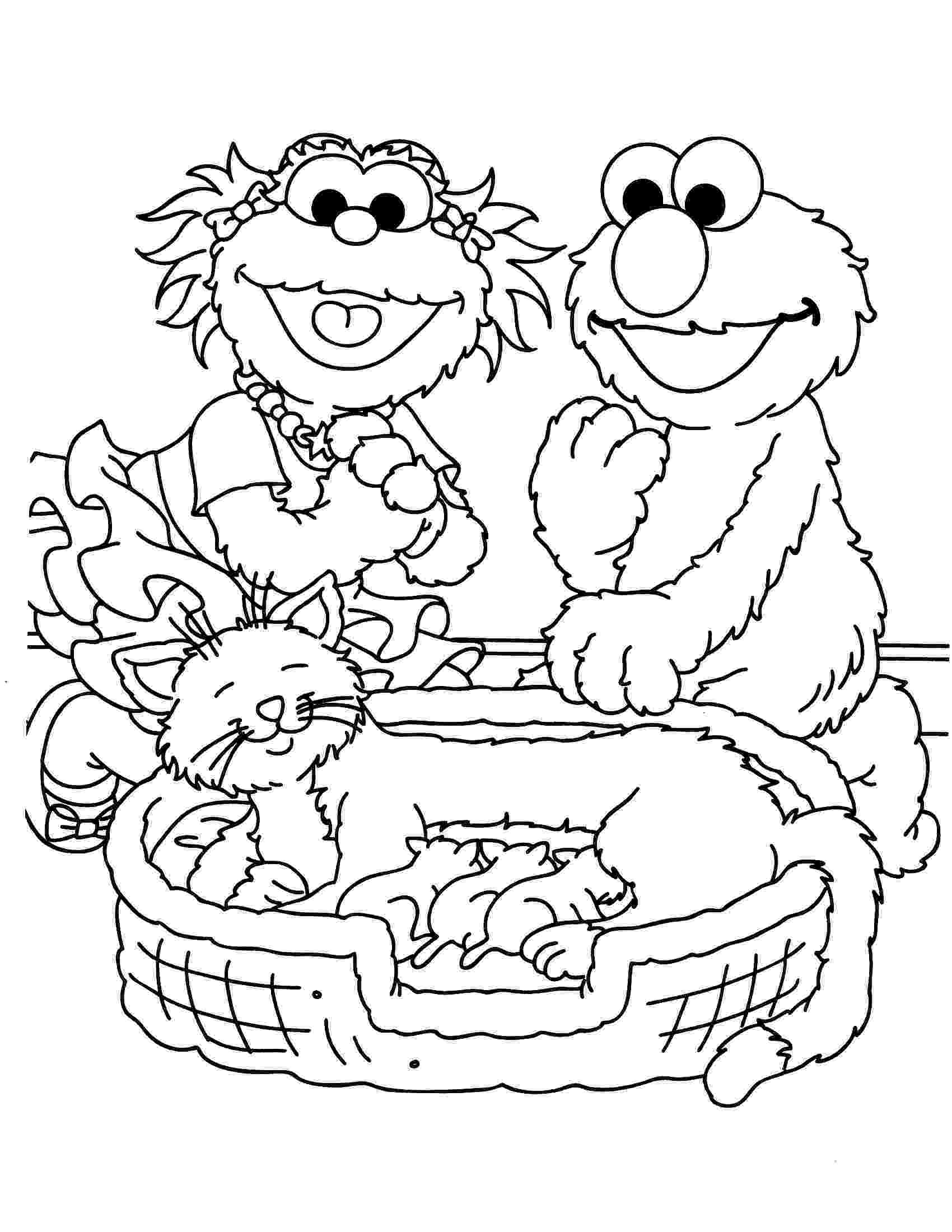 coloring pages of sesame street characters sesame street to print for free sesame street kids of street pages coloring sesame characters