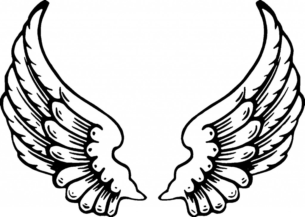 coloring pages of wings angel wings line drawing at getdrawingscom free for wings pages coloring of