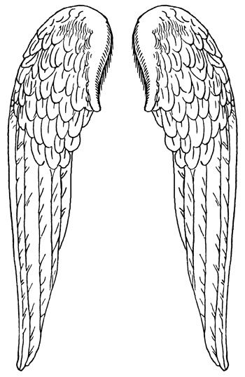 coloring pages of wings printable angel wings clipartsco coloring wings of pages