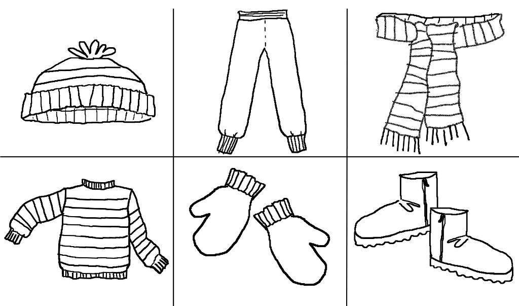 coloring pages of winter coats pictures of winter clothes for kids free download on coats of winter coloring pages