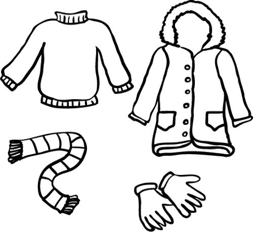 coloring pages of winter coats winter clothes coloring page inverno roupas e escola pages coats winter coloring of