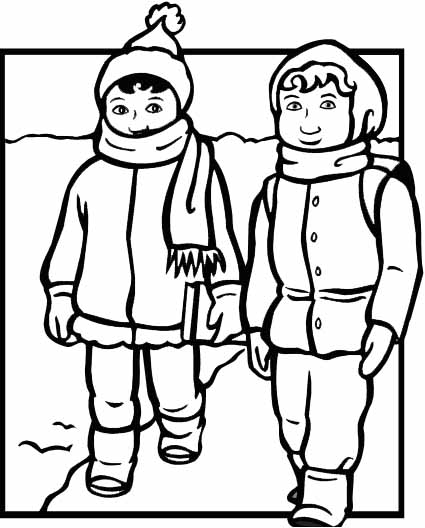 coloring pages of winter coats winter clothes coloring pages coloring home of coloring pages winter coats