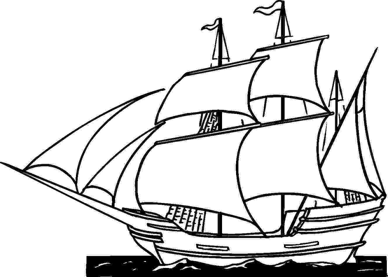 coloring pages ships easy ship drawing at getdrawingscom free for personal coloring ships pages