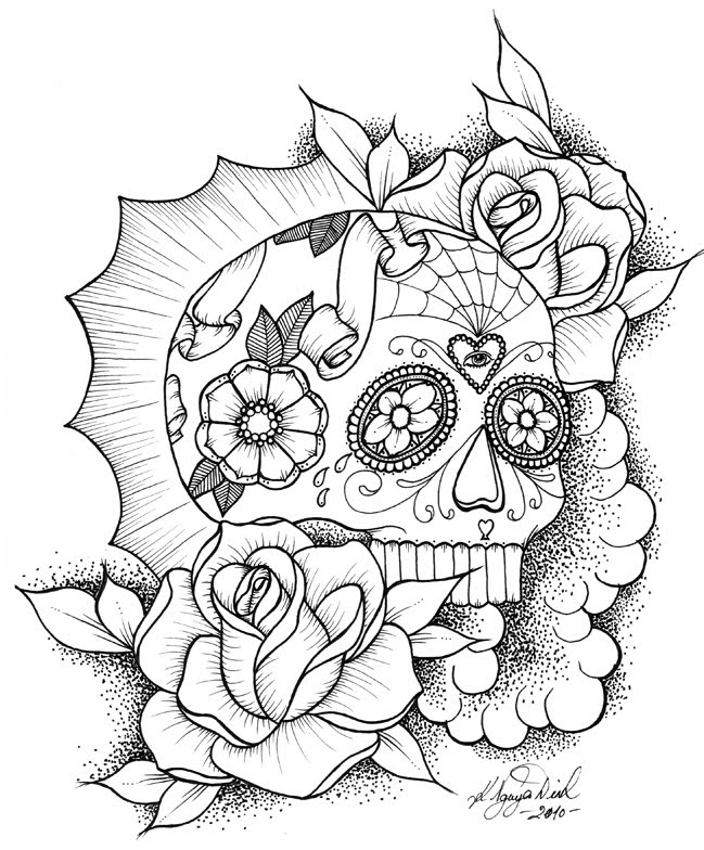 coloring pages skull 10 more sugar skull day of the dead original art coloring book coloring skull pages