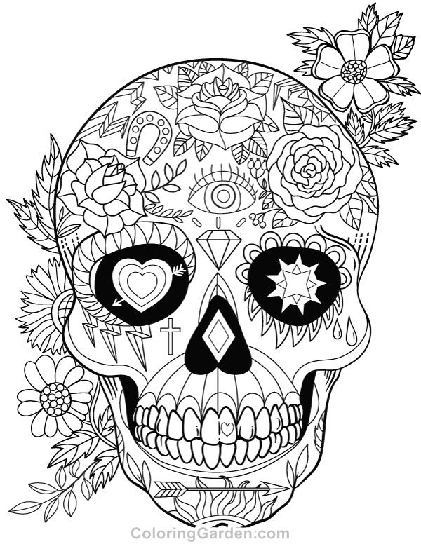 coloring pages skull coloring pages skull free printable coloring pages skull pages coloring