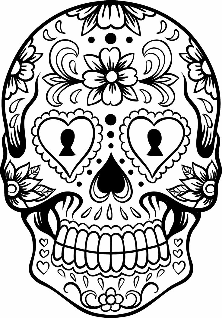coloring pages skull extra large sugar skull makeup pinterest skull pages coloring