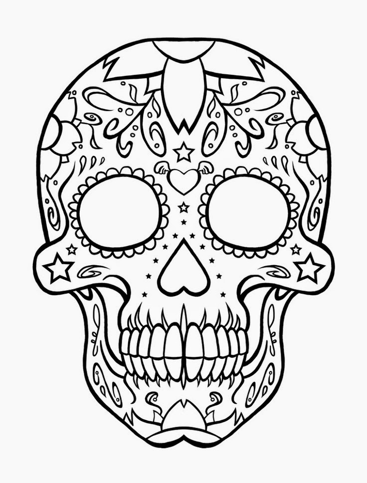 coloring pages skull printable skulls coloring pages for kids cool2bkids coloring skull pages