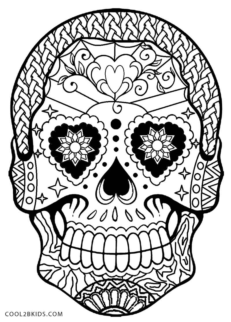 coloring pages skull sugar skull coloring page free printable coloring pages skull coloring pages