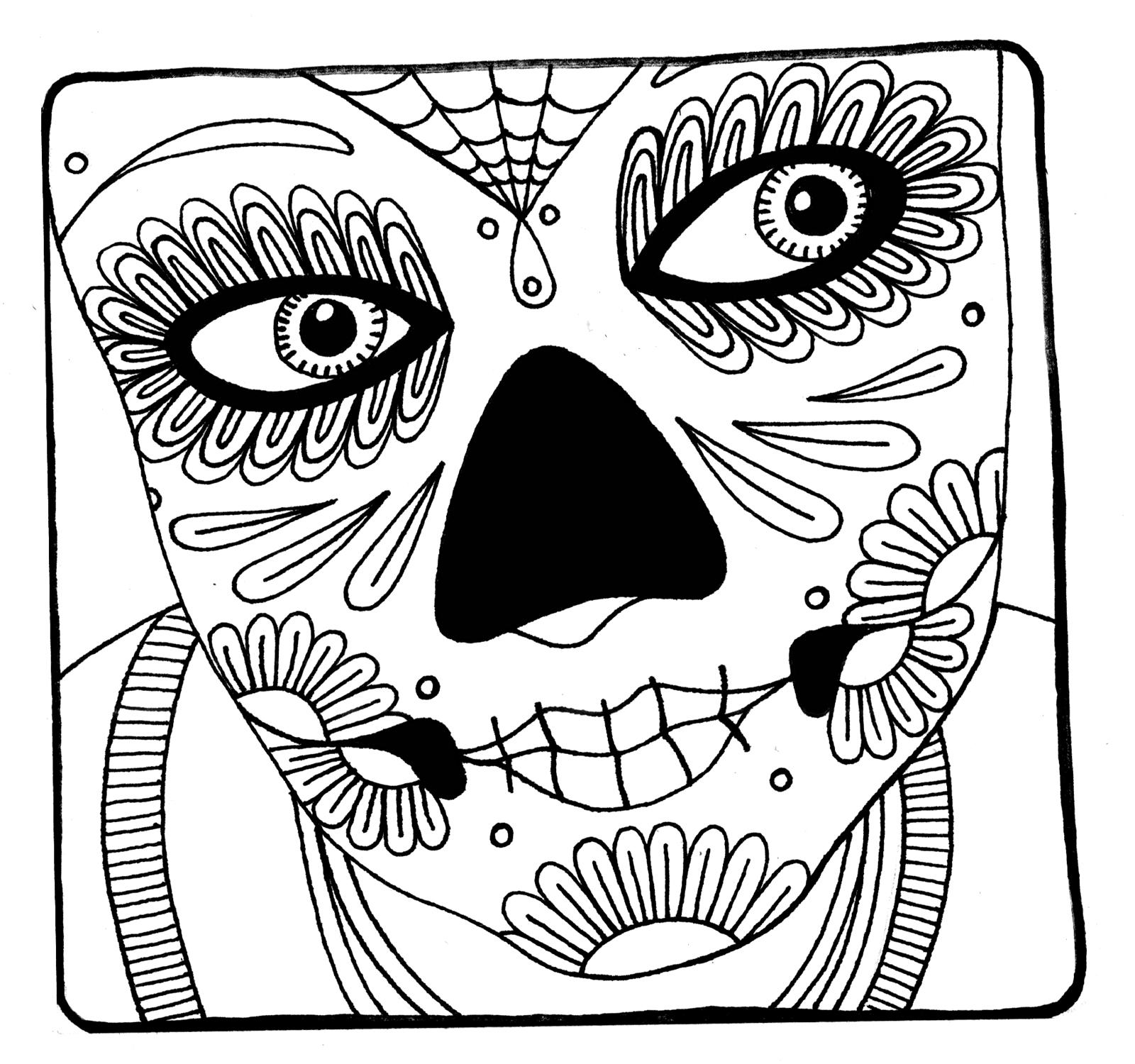 coloring pages skull sugar skull coloring pages best coloring pages for kids coloring skull pages