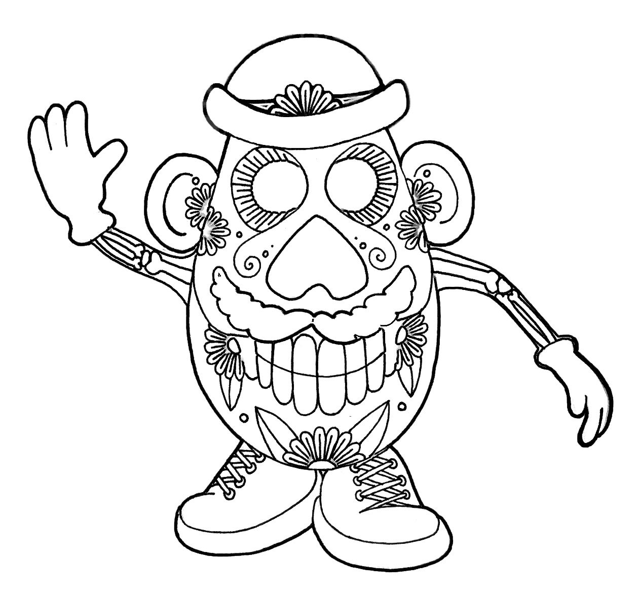 coloring pages skull yucca flats nm wenchkin39s coloring pages dia de los coloring pages skull