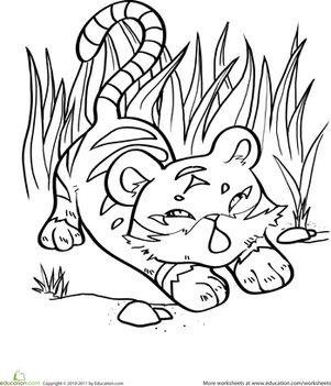 coloring pages tiger cubs free tiger coloring pages pages cubs coloring tiger