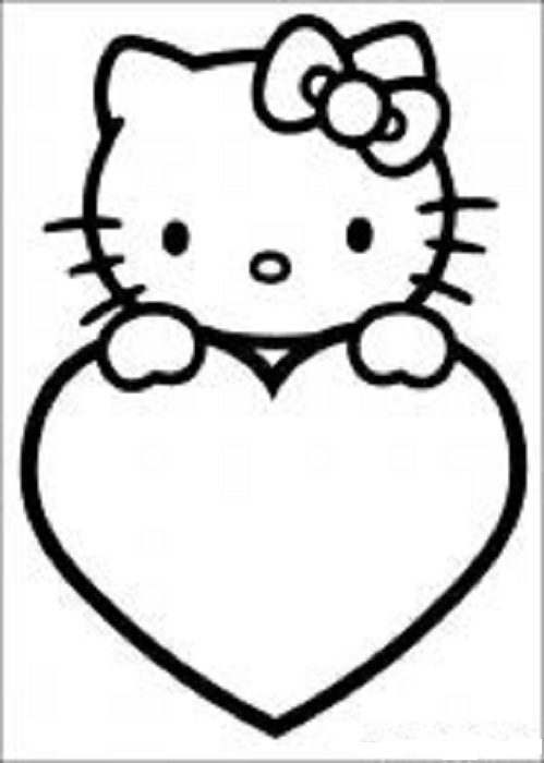 coloring pages to print of hello kitty free printable hello kitty coloring pages for pages pages kitty to coloring hello print of