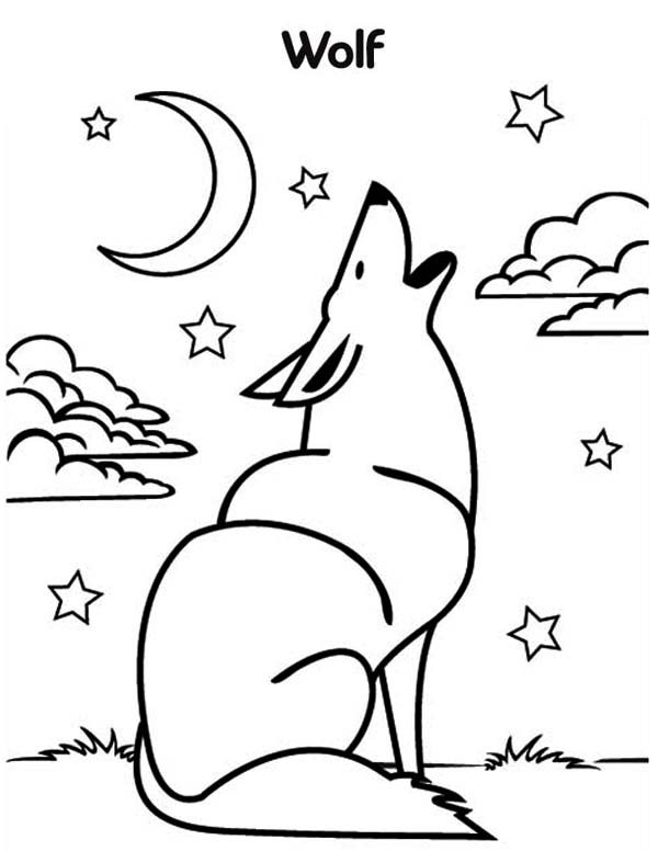 coloring pages wolf wolf howling coloring page download print online coloring wolf pages
