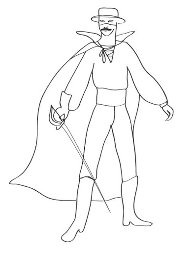 coloring pages zorro zorro coloring pages coloring zorro pages