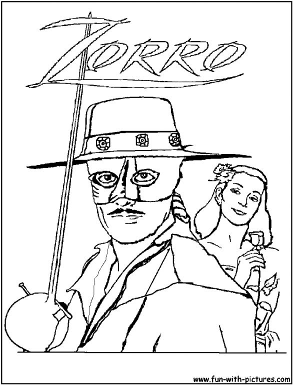coloring pages zorro zorro coloring pages online cartoon pinterest pages zorro coloring