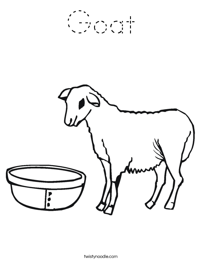 coloring picture of a goat farm animal template animal templates free premium goat a coloring picture of