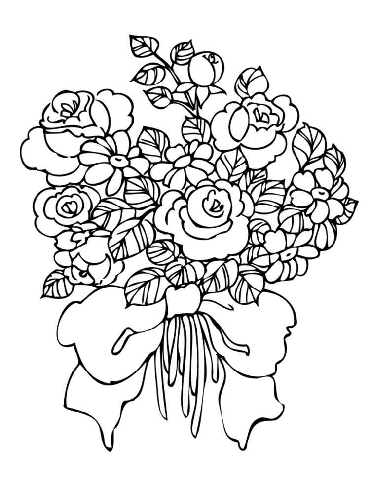 coloring picture of flower cartoon flowers coloring pages cartoon coloring pages picture coloring of flower