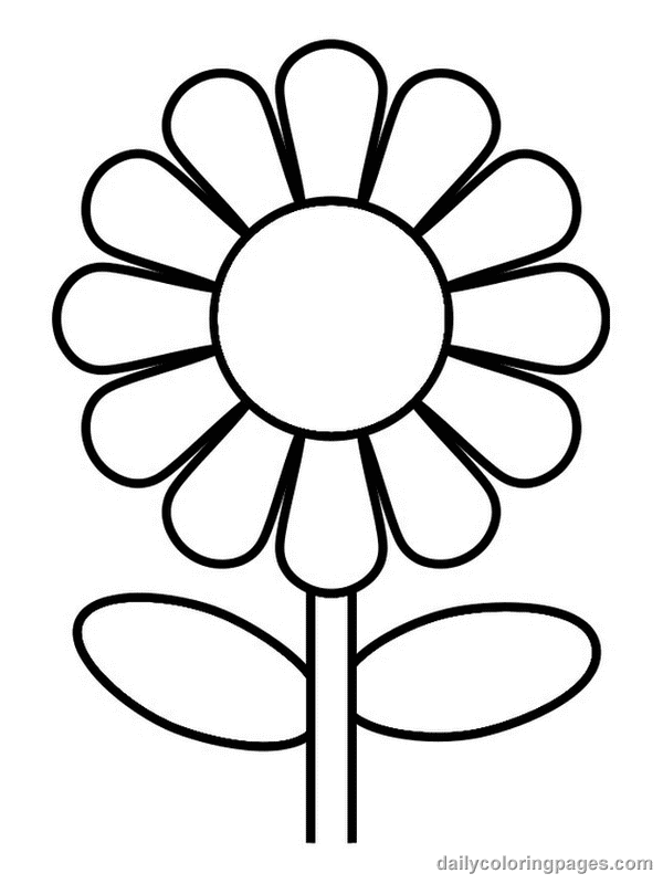 coloring picture of flower coloring pages worksheets simple flower coloring pages flower coloring picture of
