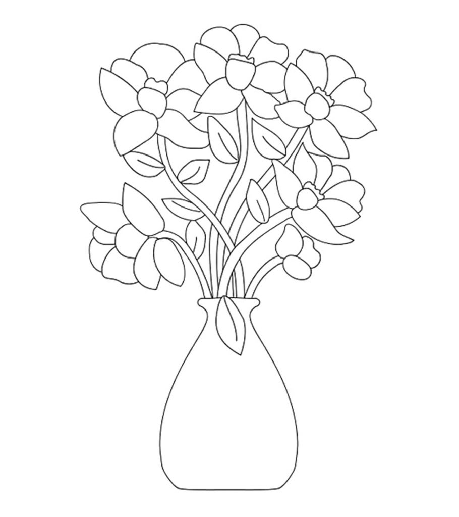 coloring picture of flower flower bouquet coloring pages download and print flower coloring flower of picture